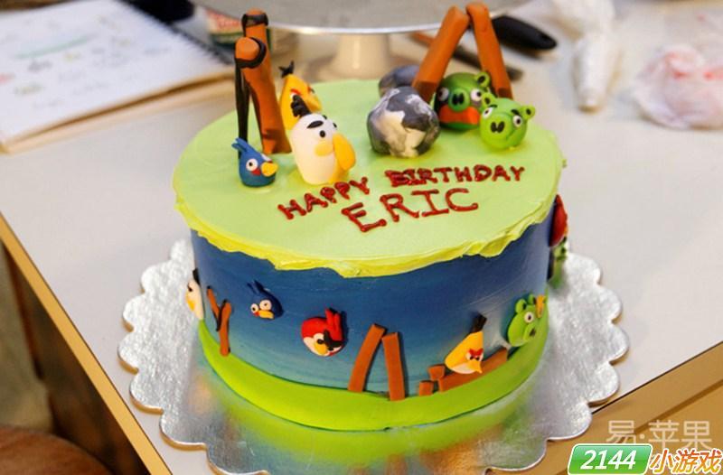 玩家自制《愤怒的小鸟》主题蛋糕图赏