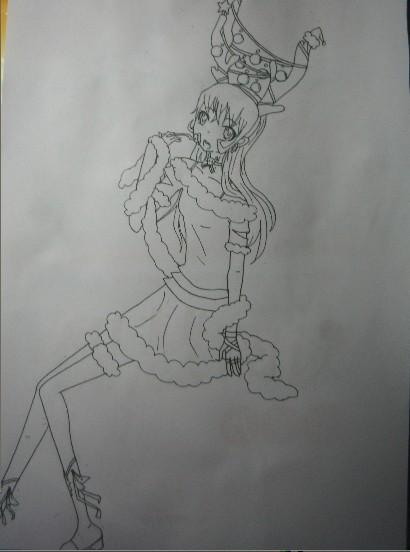 鹿素描画步骤图