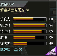 创世兵魂紫金USP属性,创世兵魂紫金USP多少钱,创世兵魂武器大全
